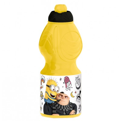 Бутылка пластиковая (спортивная, фигурная, 400 мл). Гадкий я 3