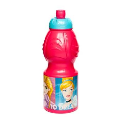 Бутылка пластиковая (спортивная, фигурная, 400 мл). Принцессы Дружные приключения