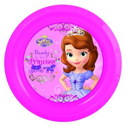 Тарелка пластиковая. Принцесса София