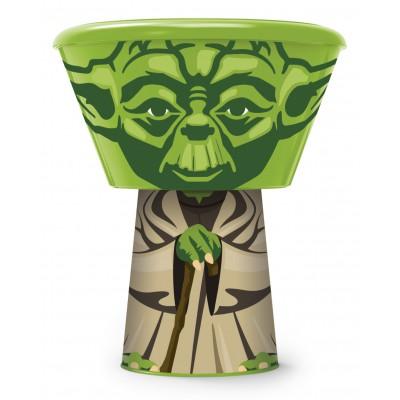 Набор пластиковой посуды из 3-х предметов (в виде героя). Йода