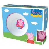 Набор посуды Свинка Пеппа в подарочной упаковке (керамический, 3 предмета)