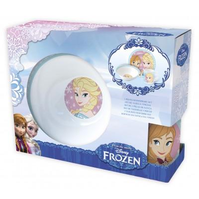 Набор детской посуды Холодное Сердце в подарочной упаковке (керамический, 3 предмета)