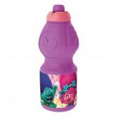 Спортивная бутылка Тролли (пластиковая, фигурная, 400 мл).
