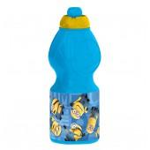 Бутылка пластиковая (спортивная, фигурная, 400 мл). Миньоны Правила