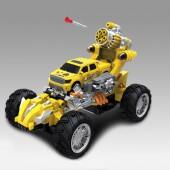 Радиоуправляемый желтый джип стреляющий ракетами - 333-BB03