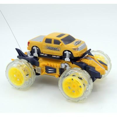 Радиоуправляемая машина-перевертыш Bubble Car желтая - 333-PP03