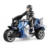 Радиоуправляемый синий мотоцикл Yuan Di Трицикл 1:10 - YD898-T57