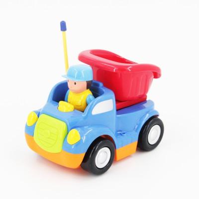 Детская синяя радиоуправляемая машина - самосвал - 6615-B