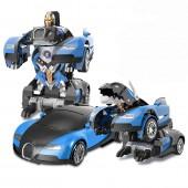Радиоуправляемый трансформер робот зверь Bugatti Veyron Blue 1:14 - MZ-2801P-B