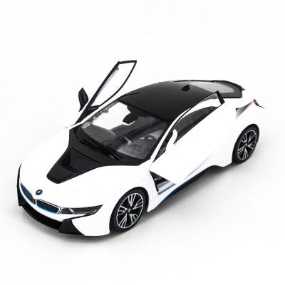 Радиоуправляемая машина Rastar BMW i8 White 1:14 с открывающимися дверями - 71010-W
