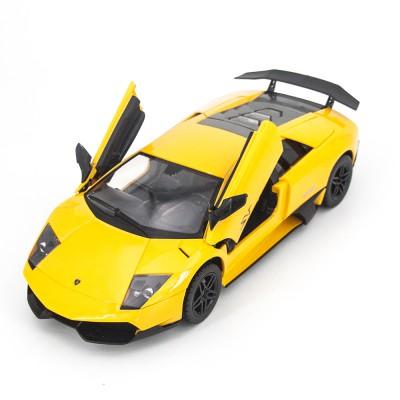 Радиоуправляемая машина MZ Lamborghini Murcielago LP670-4 SV Yellow 1:14, открываются двери и капот - MZ-2215J-Y