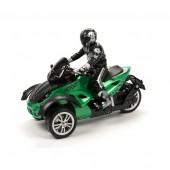 Радиоуправляемый зеленый мотоцикл Yuan Di Трицикл 1:10 - YD898-T53-G