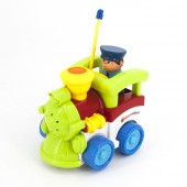 Детский зеленый радиоуправляемый паровоз  - 6605