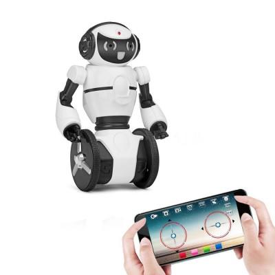 Белый робот WL toys F4 c WiFi FPV камерой, управление через APP - WLT-F4