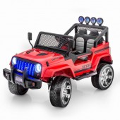 Двухместный полноприводный электромобиль Red Jeep 12V 2.4G - S2388