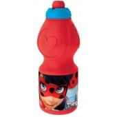 Бутылка пластиковая (спортивная, фигурная, 400 мл). Леди Баг