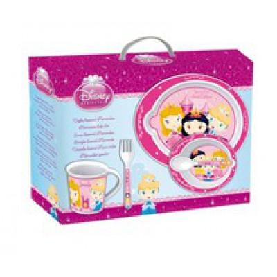 Набор детской посуды Принцессы для СВЧ (5 предметов)