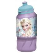 Бутылка пластиковая (спортивная 420 мл). Холодное сердце Цветы