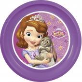 Тарелка пластиковая. Принцесса София фиолет.