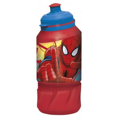 Бутылка пластиковая (спортивная 420 мл). Человек-паук Красная паутина