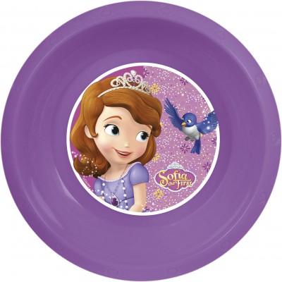 Миска пластиковая. Принцесса София фиолет.