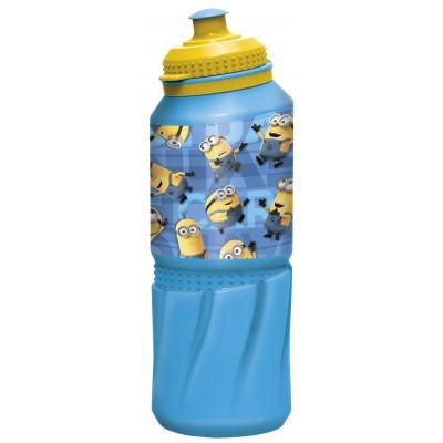 Бутылка пластиковая (спортивная 530 мл). Миньоны Правила